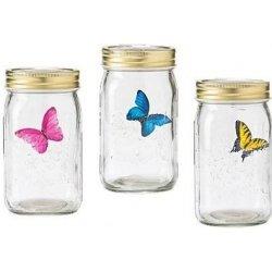 Umělý motýl ve sklenici