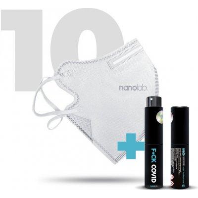 Nanolab Český bezpečný nano respirátor FFP2 bílý 10 ks