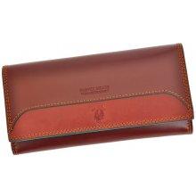 Harvey Miller Polo Club COL8 PL11 dámská kožená peněženka hnědá