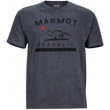 Marmot Republic Tee SS šedá