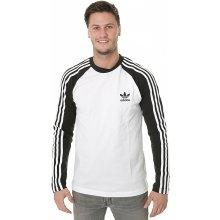 Adidas 3 Stripes LS Tee bílé / černé