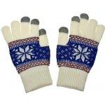 Nordic dámske rukavice na dotykový displej white