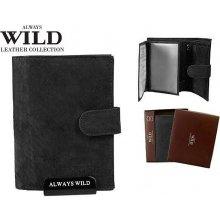 Always Wild Značková kožená peněženka černá 8N4L-MHU