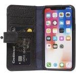 Pouzdro Decoded Leather Wallet Case iPhone X černé