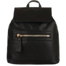 b274f55439 YooY dámský koženkový batoh s výrazným zipem černá