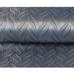 Látka na závěsy Brokát modro - šedá metráž