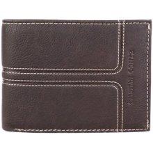 ITALSKÉ Kožená peněženka Italská tmavohnědá E8051