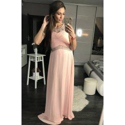 Eva   Lola luxusní dlouhé plesové šaty světle růžová od 2 299 Kč ... 181f922850