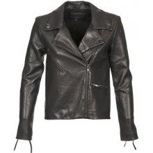 American Retro kožená bunda LEON JCKT černá