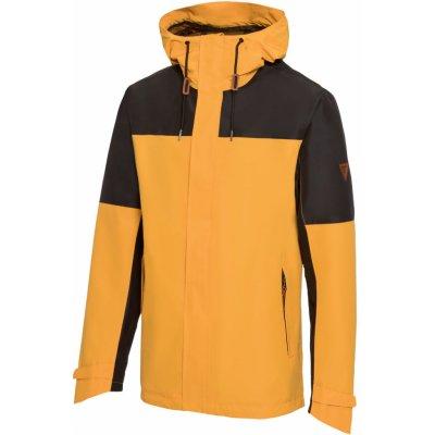 Crivit pánská trekingová hardshellová bunda žlutá