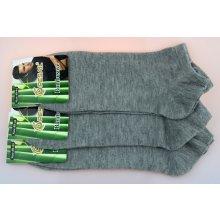 21cb0fa9189 Pesail pánské bambusové kotníkové ponožky šedé 3 páry