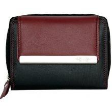 Černo vínová kvalitní kožená peněženka
