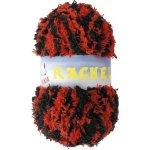 Vlnika Příze Rachel 66 červeno černý melír