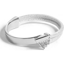 Guess náramek Silver-Tone and White Triangle Bracet P302569900A