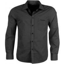 Pierre Cardin pánská košile Long Sleeve Plain Black