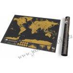 Stírací mapa světa 82 x 59 cm
