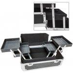 Recenze TecTake 400834 Kosmetický kufřík se 4 přihrádkami černá umělá hmota