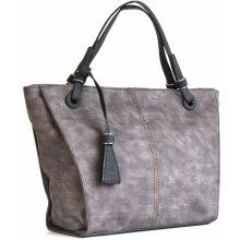 Bright elegantní kabelka přes rameno velká A4 široká hnědá f20c9c4469