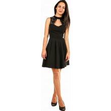 YooY áčkové společenské šaty na ples černá 5e517d2b81