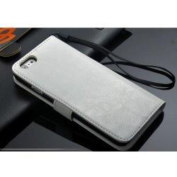 Pouzdro Faddist Apple iPhone 6 imitace kůže Bílé