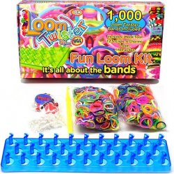 LOOM BANDS Twister set 1000ks