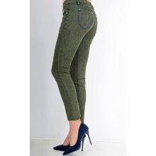 1f9f195563a2 Dámské zelené cigaretové džínové kalhoty Tmavě zelená