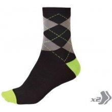 0099e3d4b5d Endura Argyll ponožky svítivě zelené E0087GV - dva páry