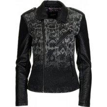 Desigual dámská bunda Serpiente Degradado černá