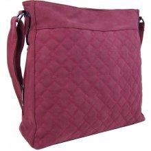 velká crossbody kabelka z broušené kůže 613-3 červená dbe3af50ba8