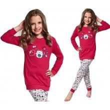 Pyžamo pro holčičky Cornette Kids Kitten tm.růžová