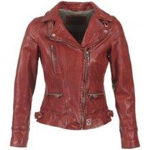 Oakwood kožená bunda 62065 červená