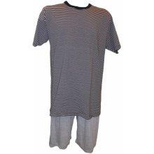 Pánské pyžamo 966 MNB černobílá