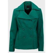 Dámský zimní kabát zelený