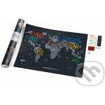 """Stírací mapa světa """"Travel Map Letters World"""""""