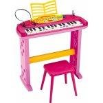 Bontempi Dětské elektronické piano se stoličkou a mikrofonem