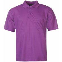 Donnay Pocket Polo Shirt Mens Purple