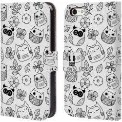 Pouzdro Head Case Apple Iphone 5c Cernobile Sovicky Kreslene Kvetiny