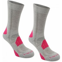 Karrimor ponožky 2 Pack Walking Socks Ladies Lght Gry Fuschi