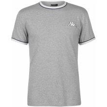 Kappa Large Logo T Shirt Mens Grey Marl