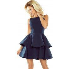 Numoco šaty s širokou nadýchanou sukní tmavě modrá 63b2db843f