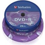 Verbatim DVD R 4,7GB 16x, AZO, spindle, 25ks (43500)