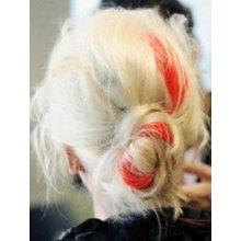 clip in vlasy, barevný klip, pramínek do vlasů v délce 50cm - červený