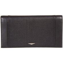 GIUDI pánská černá kožená peněženkadokladovka 7435
