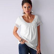 Blancheporte dámské tričko s krajkou macramé