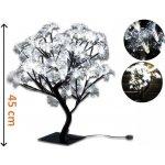 Nexos 1124 Dekorativní LED osvětlení - strom s květy, studeně bílá
