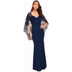 a4fbde64e0d Plesové šaty Společenské šaty dlouhé s krajkovými rukávy modrá