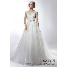 f30e876ef9e2 Helen Fontaine svatební tylové šaty se zlatým páskem HFW2741