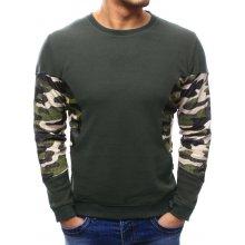 Pánský svetr s maskáčovým vzorem (wx1039) zelený