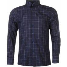 Pierre Cardin Long Sleeve shirt Mens Nvy/Wht Geo
