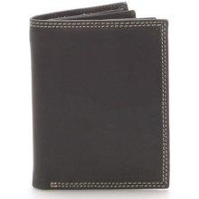 Delami Peněženky Pánská kožená peněženka černá Tui Černá